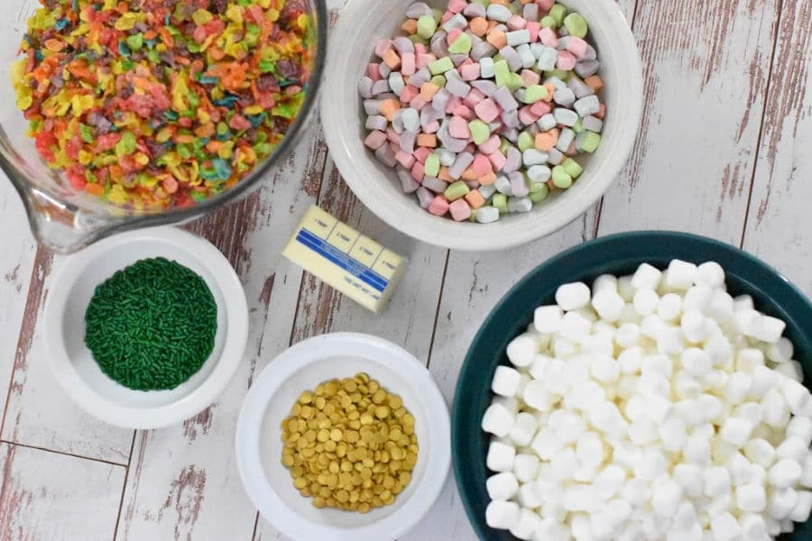 Rainbow Cereal Snack Ingredients
