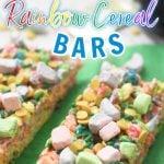 Rainbow Cereal Treat Bars
