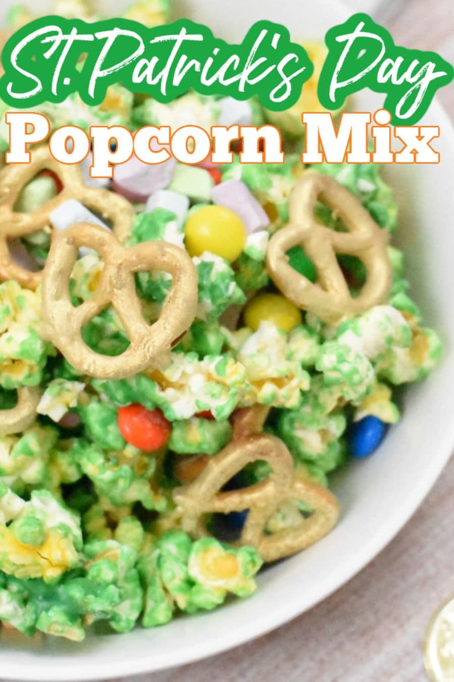 St Patricks Day Popcorn Mix