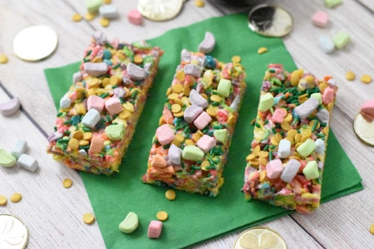 Rainbow Cereal Treats