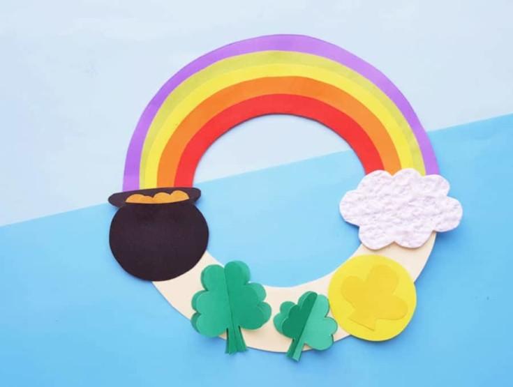 Rainbow Wreath Craft for Kids