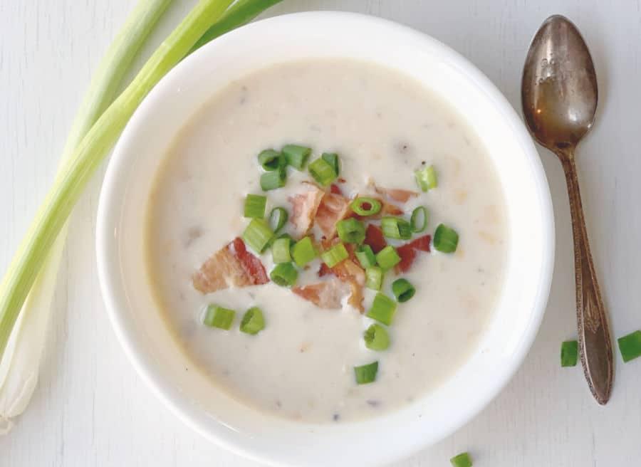 Bowl of Corn Chowder Soup