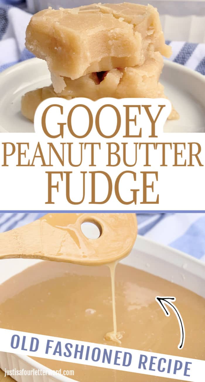 Gooey Peanut Butter Fudge Recipe Pin