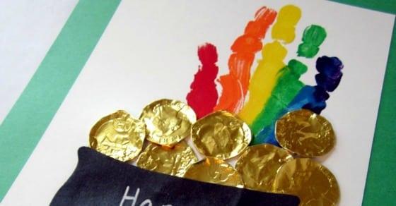 Super Cute Rainbow Handprint Craft for St. Patrick's Day!