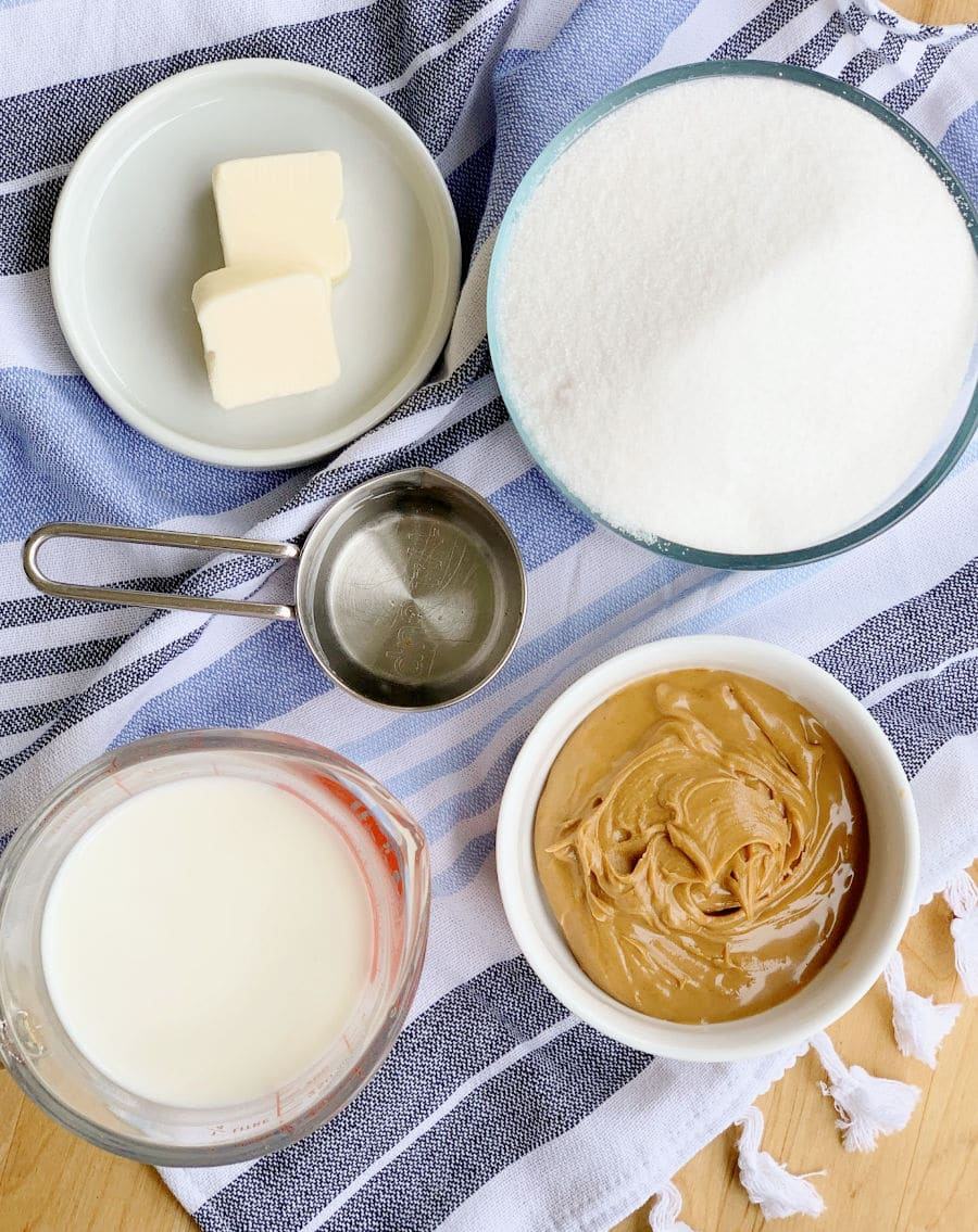 Peanut Butter Fudge Ingredients