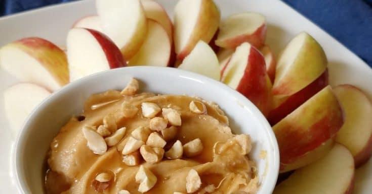 Fast and Easy Peanut Butter Yogurt Fruit Dip