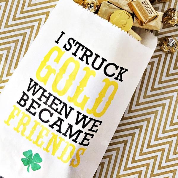 St. Patrick's Day Treat Bag Printable