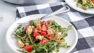 Watermelon Feta Salad with arugula