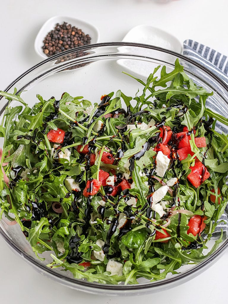 balsamic glaze on salad