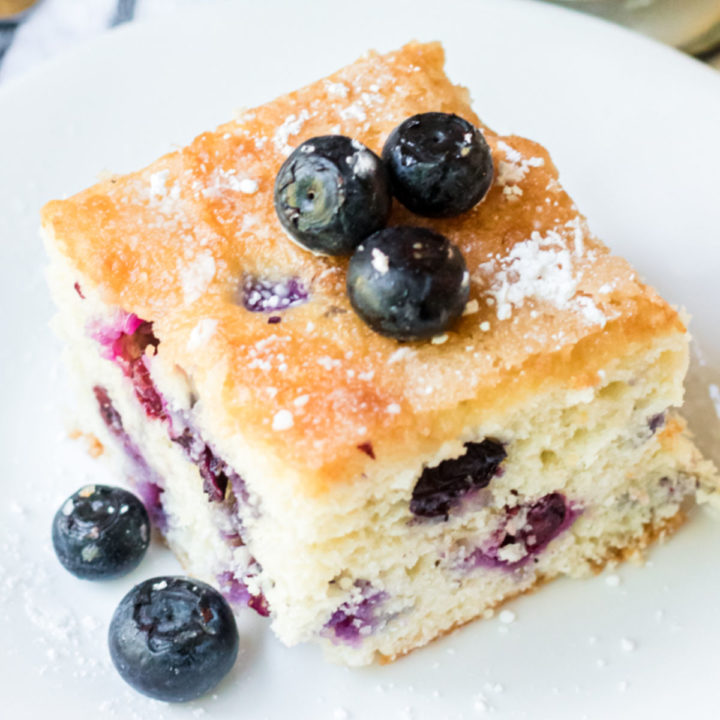 Blueberry Cake Tray Overhead