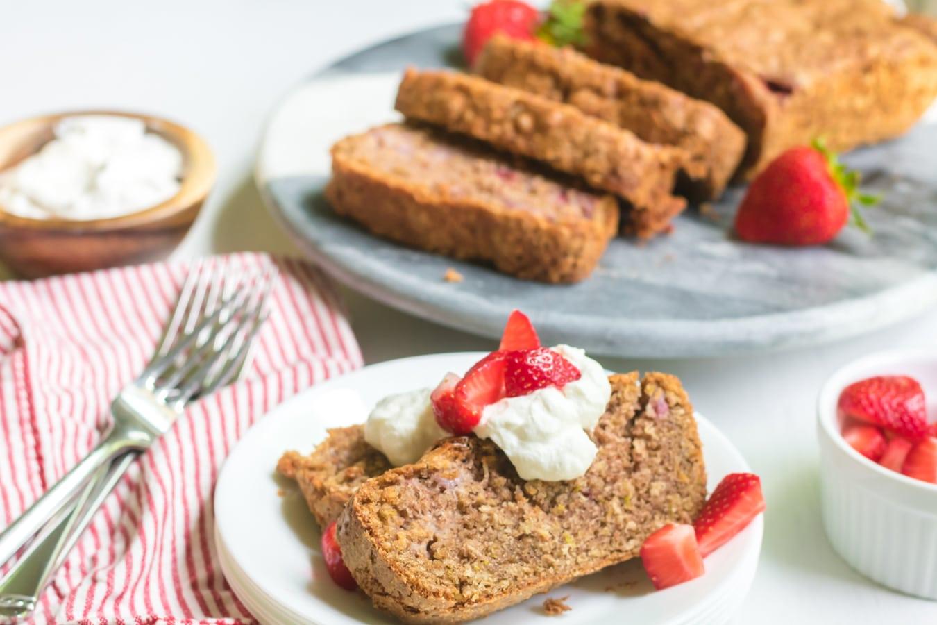 Strawberry Quick Bread sliced