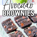avocado brownies process