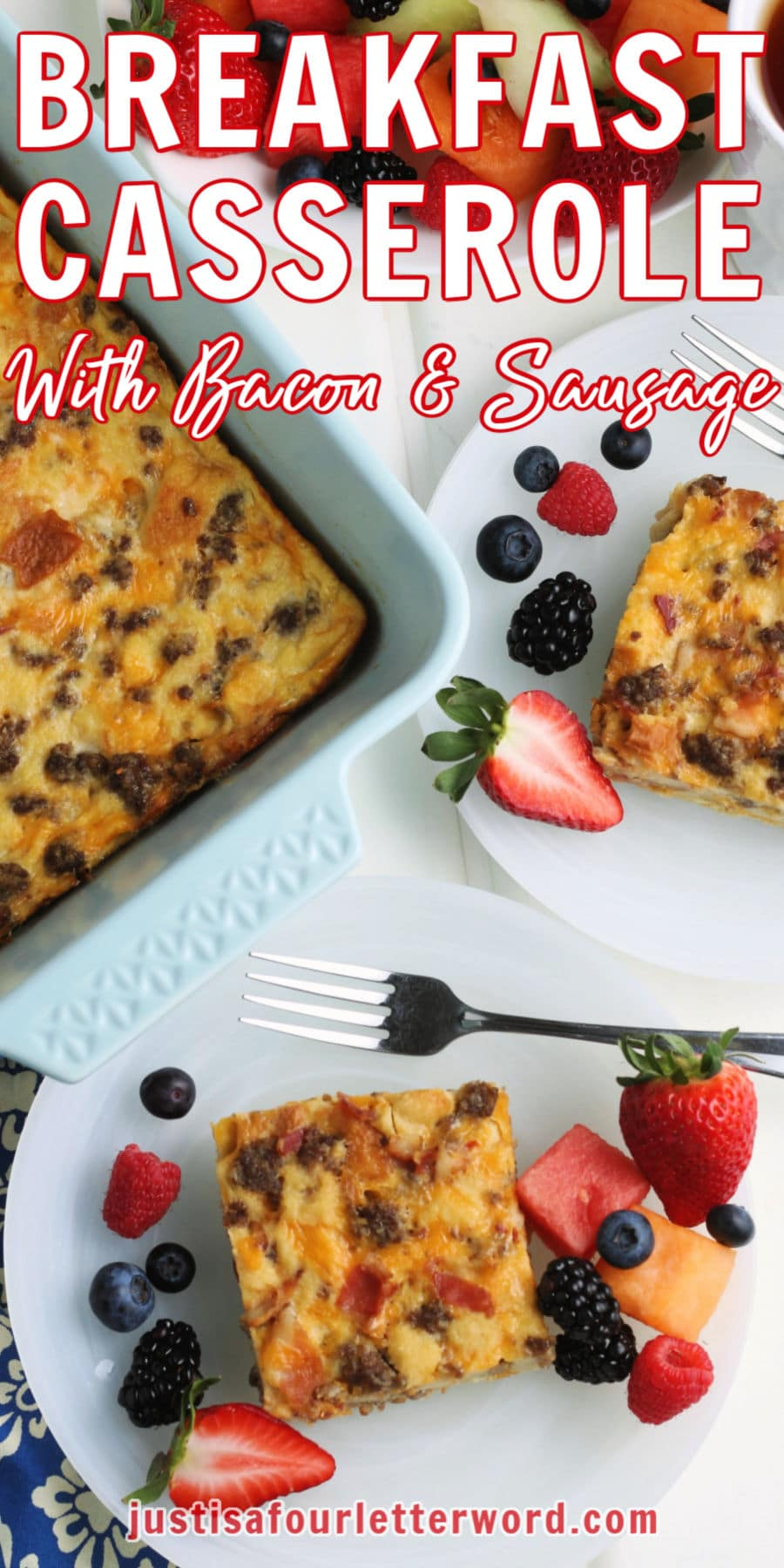 overnight breakfast casserole with bacon and sausage