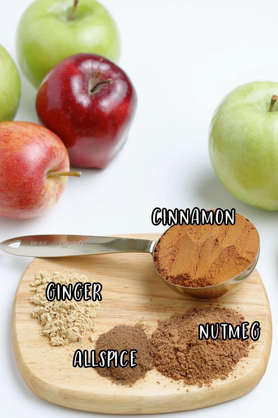 Apple Pie Spice Ingredients labelled