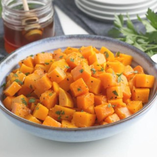 Roasted Butternut Squash In Serving Bowl