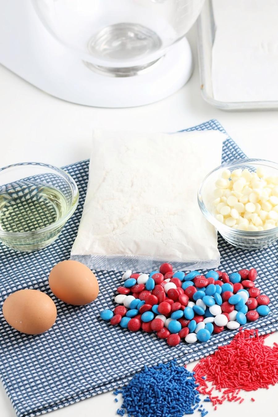 4th of July Cookies Ingredients