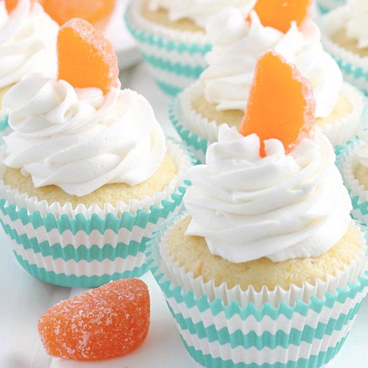 Orange Creamsicle Cupcakes tray