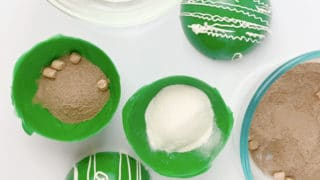 green hot cocoa bombs ingredients
