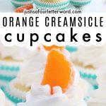 orange creamsicle cupcakes pinterest image