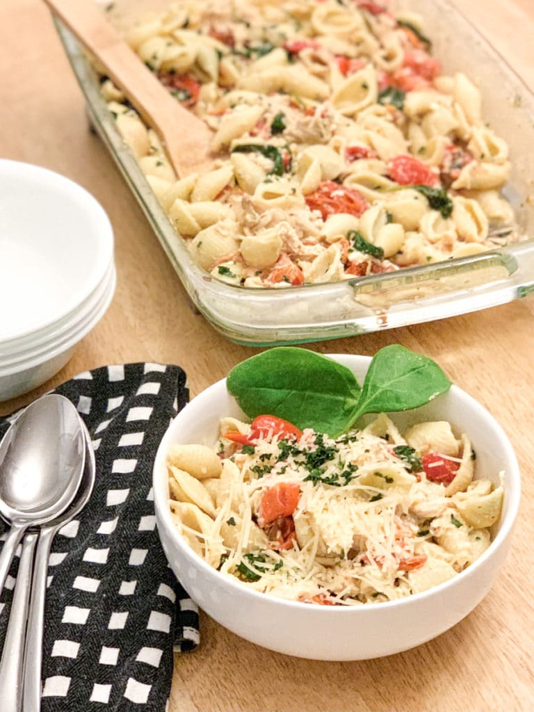 Feta Pasta in bowl
