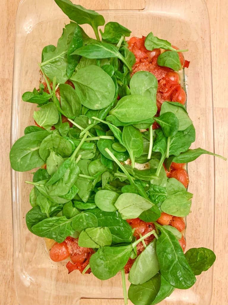 Feta Pasta spinach