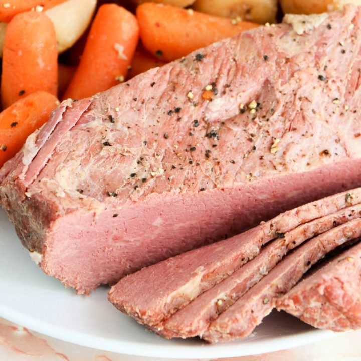 Slow Cooker Corned Beef Sliced
