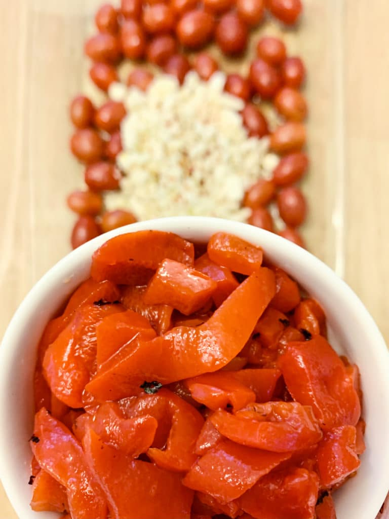 feta pasta with red peppers