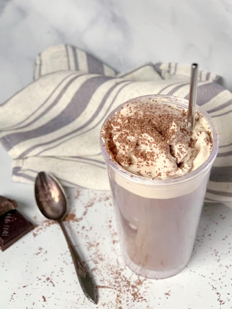 whipped hazelnut iced mocha