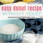 donut recipe without yeast cake donuts