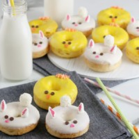 Easter bunny and chicks donuts