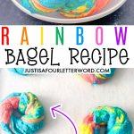 RAINBOW BAGELS Pinterest Image