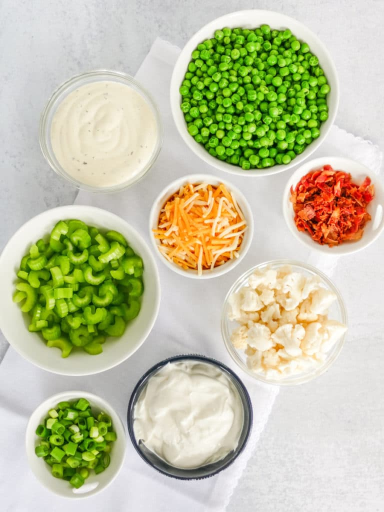 creamy pea salad ingredients
