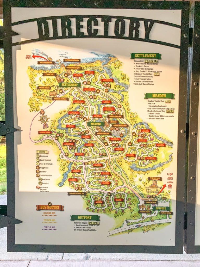 map of settlement campsite