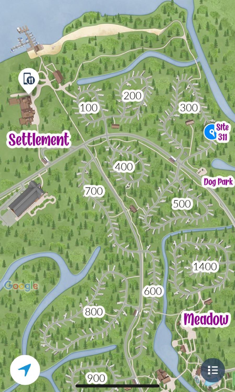 map of campsites