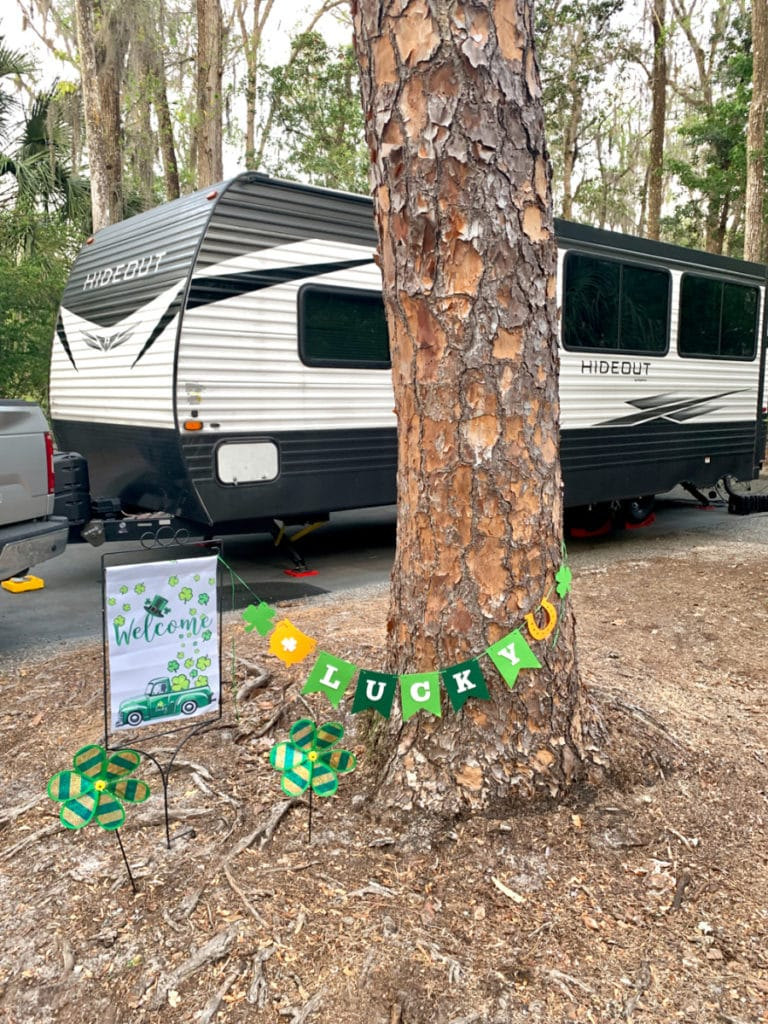 Fort Wilderness Site 311 with trailer