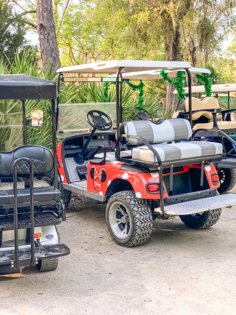 Fort Wilderness private golf cart