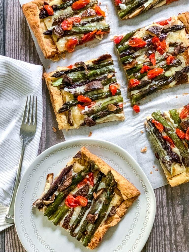 asparagus tart plated