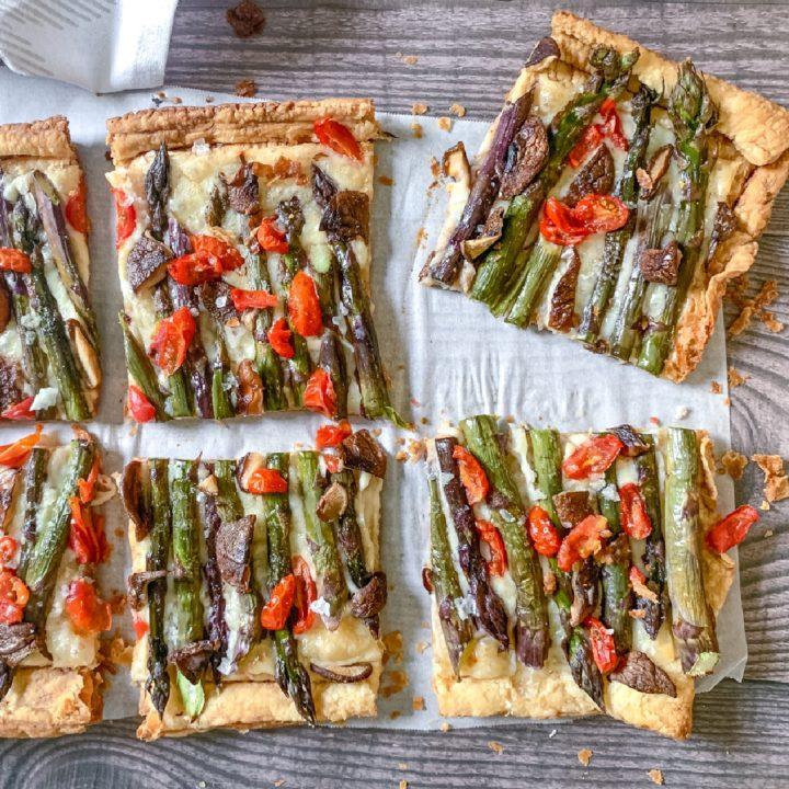 asparagus tart with shiitake mushrooms recipe