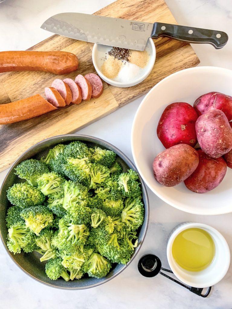 sheet pan kielbasa ingredients