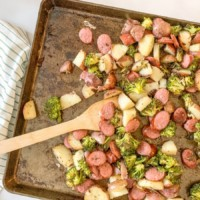 sheet pan kielbasa ready to eat