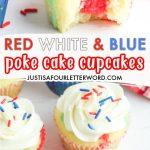 poke cake cupcakes pin