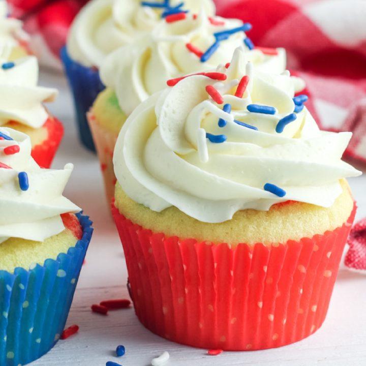 poke cake cupcakes square