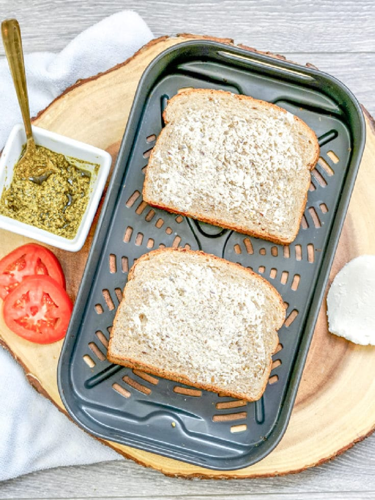 Tomato Pesto Grilled Cheese Butter Side Up