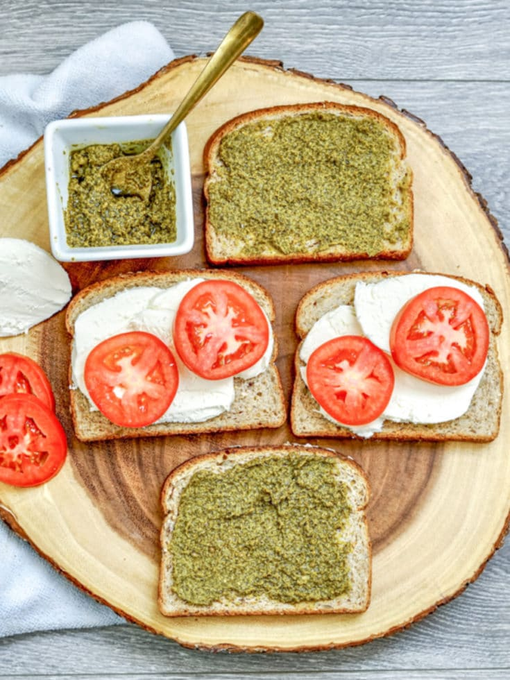 Tomato Pesto Grilled Cheese Toppings