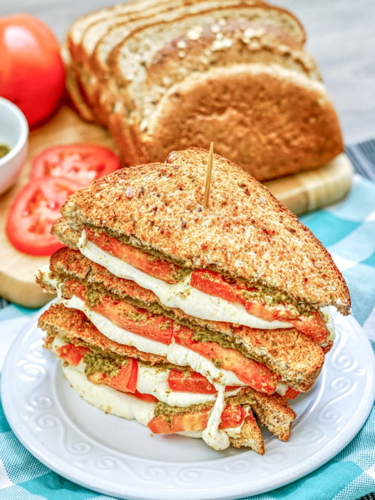 Tomato Pesto Grilled Cheese on Plate