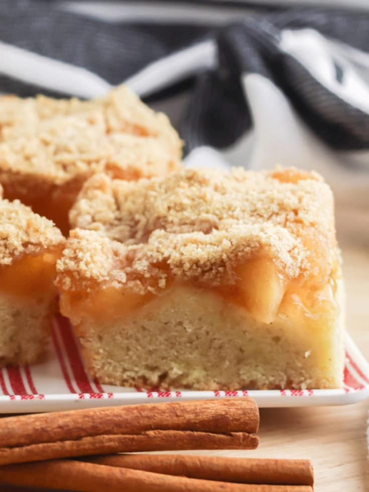 Apple Pie Bars Squares on plate