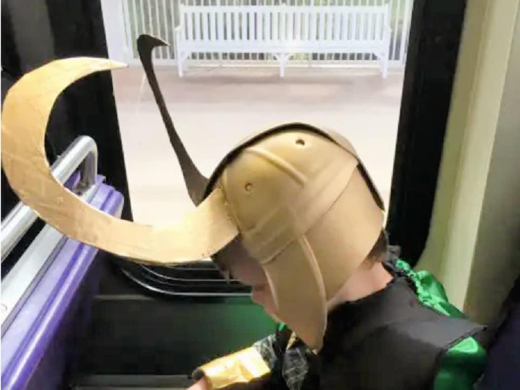 Loki horns classic helmet