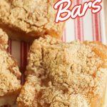 apple pie bars recipe pin