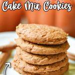 3 ingredient pumpkin cake cookie recipe
