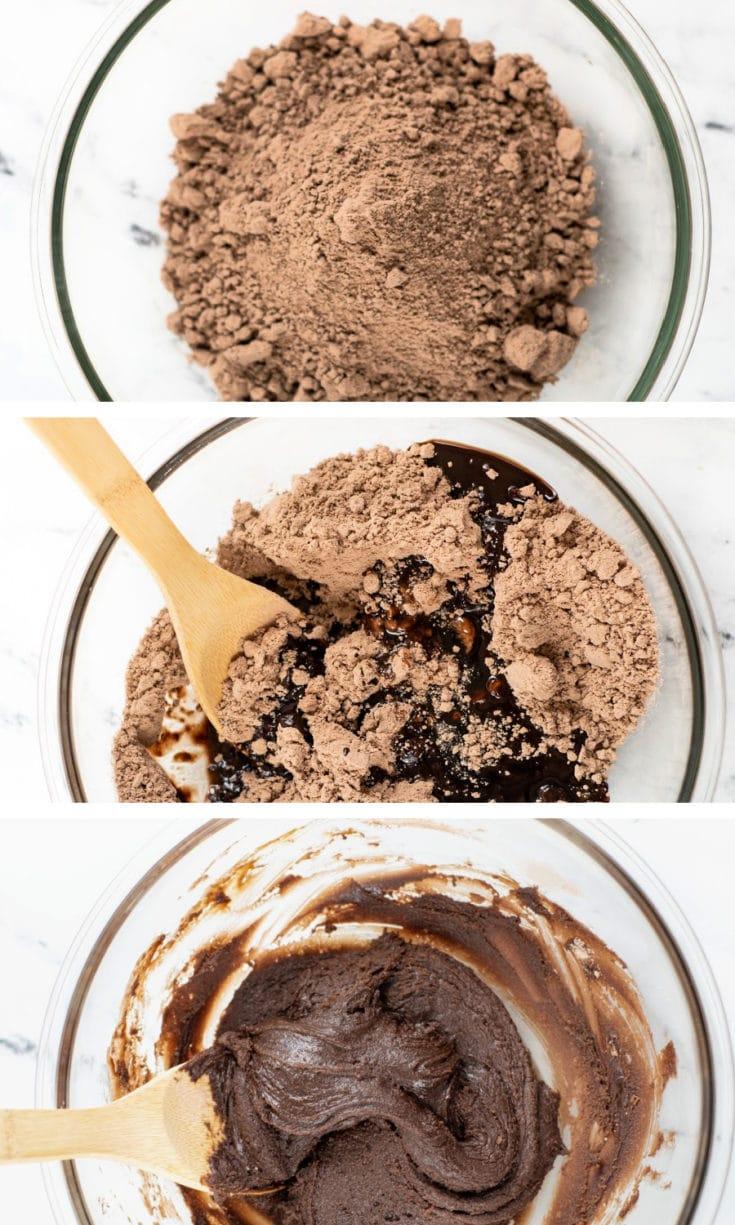 Brownie bites steps